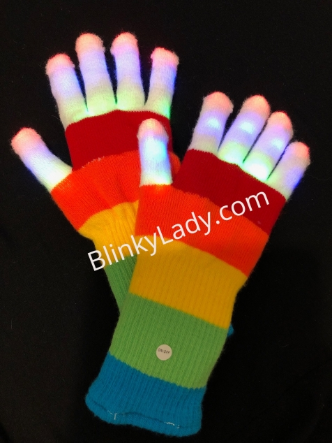 Rainbow Gloves - Marked