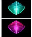 USB Fiber Optic Mask - Green Pink